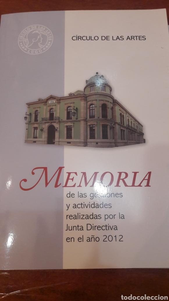 MEMORIA CIRCULO ARTES LUGO AÑO 2012 (Libros Nuevos - Bellas Artes, ocio y coleccionismo - Otros)
