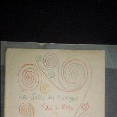 Libros: COCTEAU. LA SALLE DES MARIAGES. HOTEL DE VILLE DE MENTON .ILUSTRACIONES EN B/N.. Lote 138533022