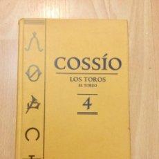 Libros: COSSÍO. LOS TOROS, EL TOREO. VOLUMEN 4. NUEVO. Lote 142159486