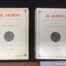 Libros: EL ARCHIVO - REVISTA LITERARIA SEMANAL- DOS TOMOS II & IV. Lote 143291158