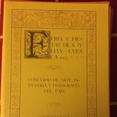 Libros: CATÁLOGO WIFREDO LAM, MARCO PÉREZ...1927 CUENCA. Lote 288422053