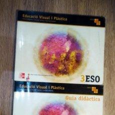 Libros: EDUCACIÓ VISUAL I PLÀSTICA 3R ESO. EN CATALÀ. LLIBRE DE CLASSE I GUIA DIDÀCTICA. Lote 148034886