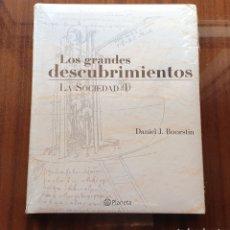 Libros: LIBRO LOS GRANDES DESCUBRIMIENTOS (LA SOCIDAD I, TOMO 5) - PLANETA 2004, - PRECINTADO SIN USO!!. Lote 152409601
