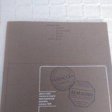 Libros: GALERIA OVIDIO - 197 / PINTURAS / FIBLA ,GENOVART,NAVARRO,TAPICES,ALICIA. Lote 155751016