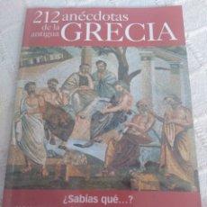 Libros: 212 ANÉCDOTAS DE LA ANTIGUA GRECIA. Lote 155781410