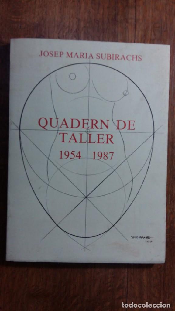 QUADERN DE TALLER 1954 - 1987 DE JOSEP PEDREIRA. VIC, 1987 (Libros Nuevos - Bellas Artes, ocio y coleccionismo - Otros)