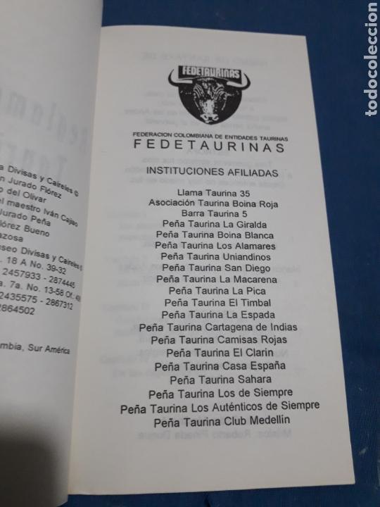 Libros: EL REGLAMENTO TAURINO OFICIAL DE SANTAFE DE BOGOTA 1994 COLOMBIA - Foto 3 - 156904130
