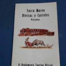 Libros: EL REGLAMENTO TAURINO OFICIAL DE SANTAFE DE BOGOTA 1994 COLOMBIA. Lote 156904130