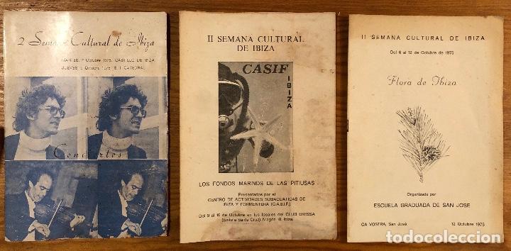 Libros: Semana cultural de Ibiza-3CUADERNOS-(33€) - Foto 4 - 157386006