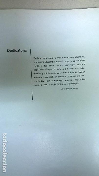Libros: Numismática .Autor: Alejandro Sáez Gimenez. - Foto 4 - 158165094