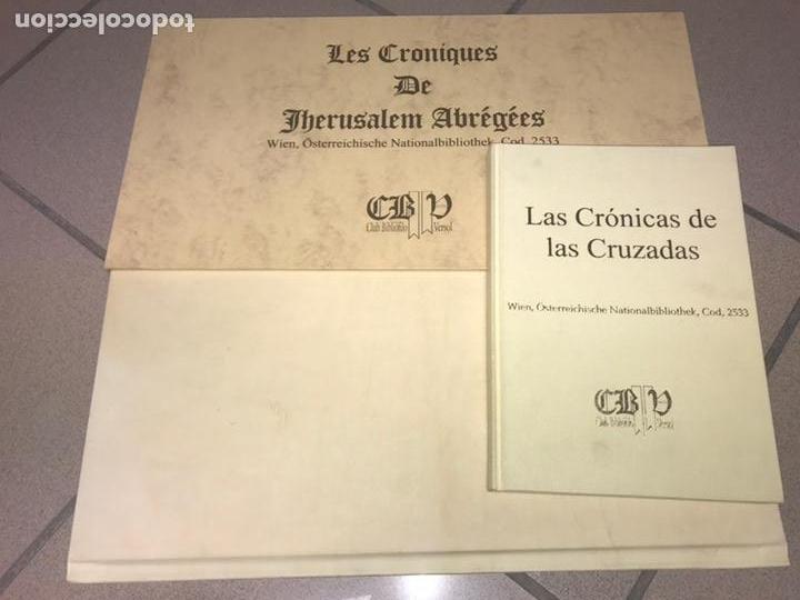 Libros: LAS CRÓNICAS DE LAS CRUZADAS DE JERUSALÉN, AÑO 1455. VERSOL TIRADA DE 575 EJEMPLARES. - Foto 3 - 161813778