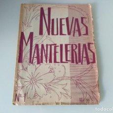 Libros: LIBRO NUEVAS MANTELERIAS DE DIDTRIBUCIONES REUNIDAS. Lote 170973840