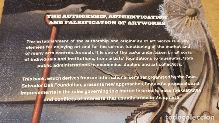 Libros: THE AUTHORSHIP, AUTHENTICATION AND FALSIFICATION OF ARTWORKS / LLUÍS PEÑUELAS I REIXAC / COMO NUEVO. - Foto 2 - 174016314
