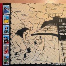 Libros: LE TIMBRE VOYAGE AVEC...TINTIN. Lote 188627861