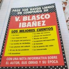 Libros: V. BLASCO IBAÑEZ, LOS MEJORES CUENTOS. Lote 194392188