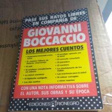 Libros: GIOVANNI BOCCACCIO,LOS MEJORES CUENTOS. Lote 194393420