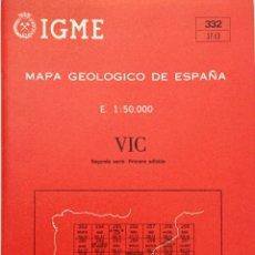 Libros: MAPA GEOLÓGICO DE ESPAÑA. VIC. I.G.M.E. NUEVO. Lote 194579193