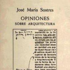 Libros: OPINIONES SOBRE ARQUITECTURA. Lote 195160908