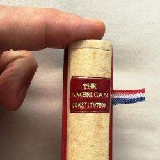 Libros: LIBRO MINIATURA - CONSTITUCIÓN DE LOS ESTADOS UNIDOS DE AMÉRICA - CONSTITUTION OF THE U.S.A.. Lote 199881018