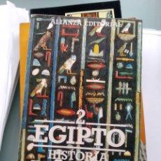 Libros: EGIPTO - HISTORIA ILUSTRADA DE LAS FORMAS ARTÍSITICAS (NUEVO). Lote 201840647