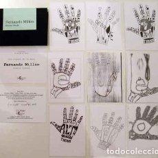 Livres: MILLÁN, FERNANDO - LOS SIGNOS DE LA MANO. POESÍA VISUAL - PRIMERA EDICIÓN. Lote 203244985