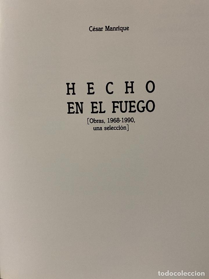 Libros: CÉSAR MANRIQUE. HECHO EN EL FUEGO. OBRAS, 1968 - 1990. AÑO 1991.CANARIAS - Foto 5 - 204370097