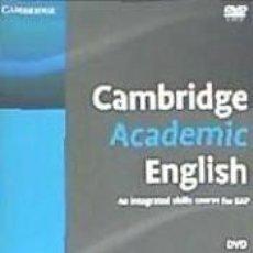 Libros: CAMBRIDGE ACADEMIC ENGLISH C1 ADVANCED DVD. Lote 206135051