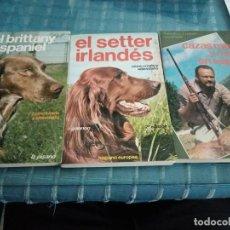 Libros: LOTE DE TRES LIBROS DE CAZA. Lote 206303090