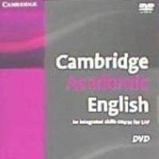 Libros: CAMBRIDGE ACADEMIC ENGLISH B2 UPPER INTERMEDIATE DVD. Lote 206342633