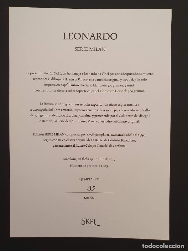 Libros: LEONARDO DA VINCI 500 ANIVERSARIO FASCIMIL EDIC. SKEL Nº 35 DE 2998 EN EXPOSITOR FIRMADO NOTARIO - Foto 5 - 207338080
