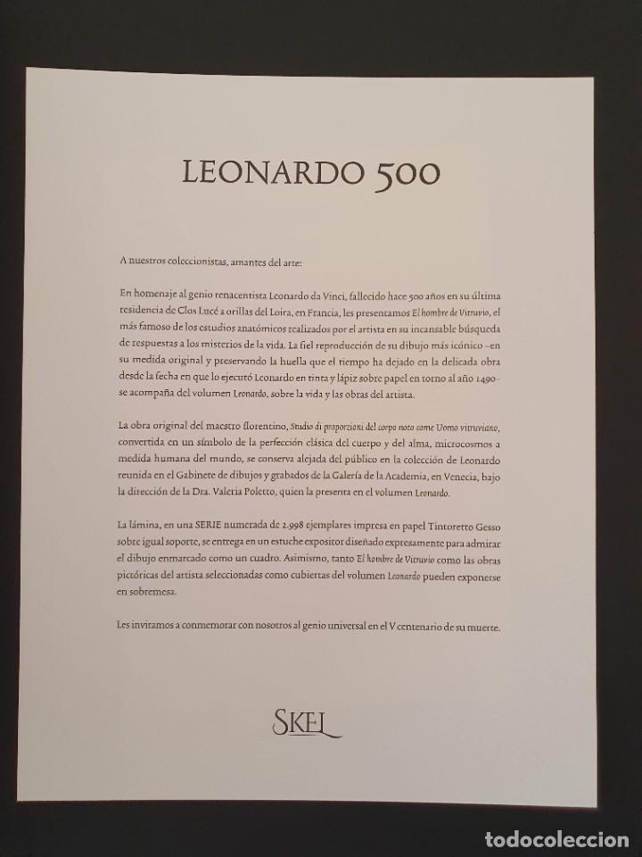 Libros: LEONARDO DA VINCI 500 ANIVERSARIO FASCIMIL EDIC. SKEL Nº 35 DE 2998 EN EXPOSITOR FIRMADO NOTARIO - Foto 6 - 207338080