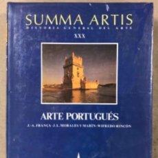 Libros: SUMMA ARTIS (HISTORIA GENERAL DEL ARTE). TOMO XXX. ARTE PORTUGUÉS. VV.AA.. ED. ESPASA CALPE.. Lote 208311465