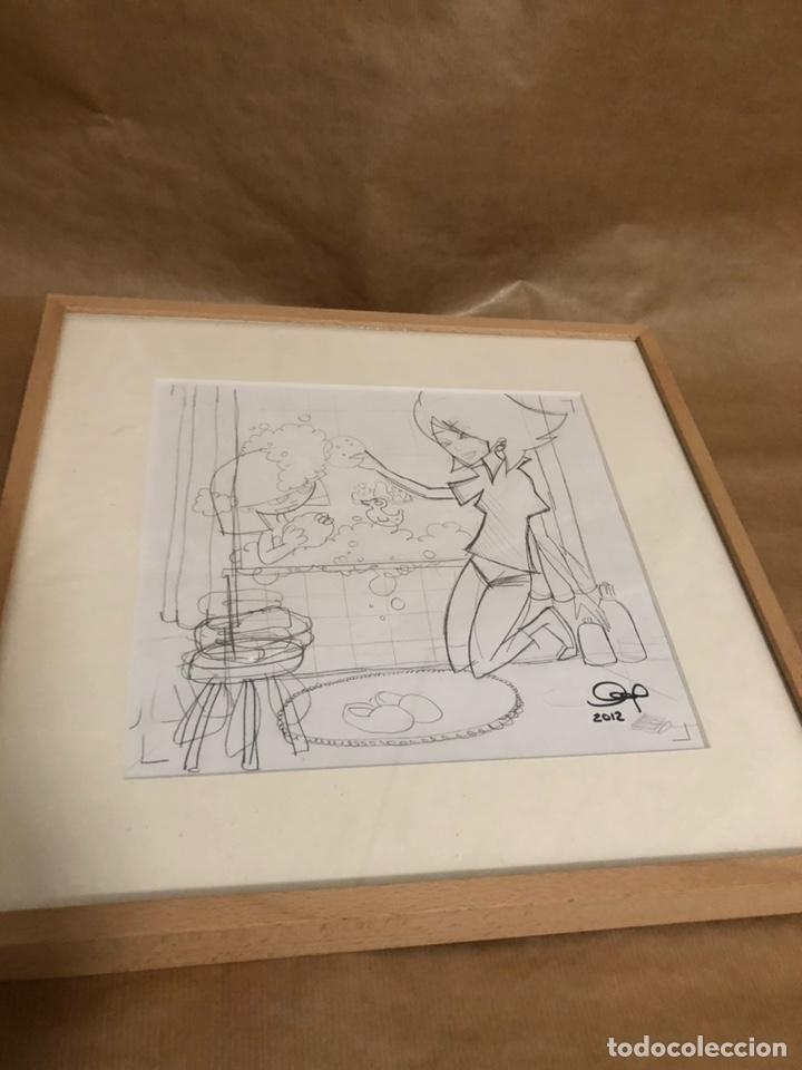 Libros: Exclusivo dibujo original del libro carlota es feliz - Foto 2 - 210349057