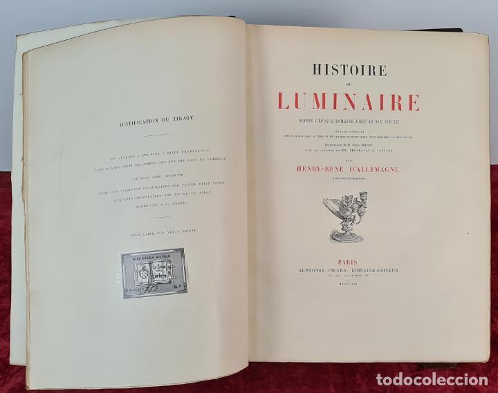 HISTOIRE DE LUMINAIRE. HENRY RENE D'ALLEAMGNE. EDIT. ALPHONSE PICARD. 1891. (Libros Nuevos - Bellas Artes, ocio y coleccionismo - Otros)