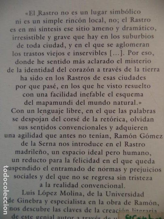 Libros: EL RASTRO.RAMON GOMEZ DE LA SERNA ESPASA NUEVO SIN LEER 492 PAGINAS 17,5X11,5 CM - Foto 2 - 213867888