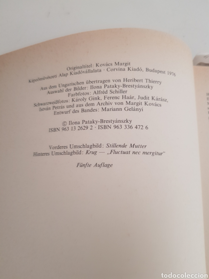 Libros: MARGIT KOVACS EN ALEMAN TAPA DURA - Foto 4 - 216793060