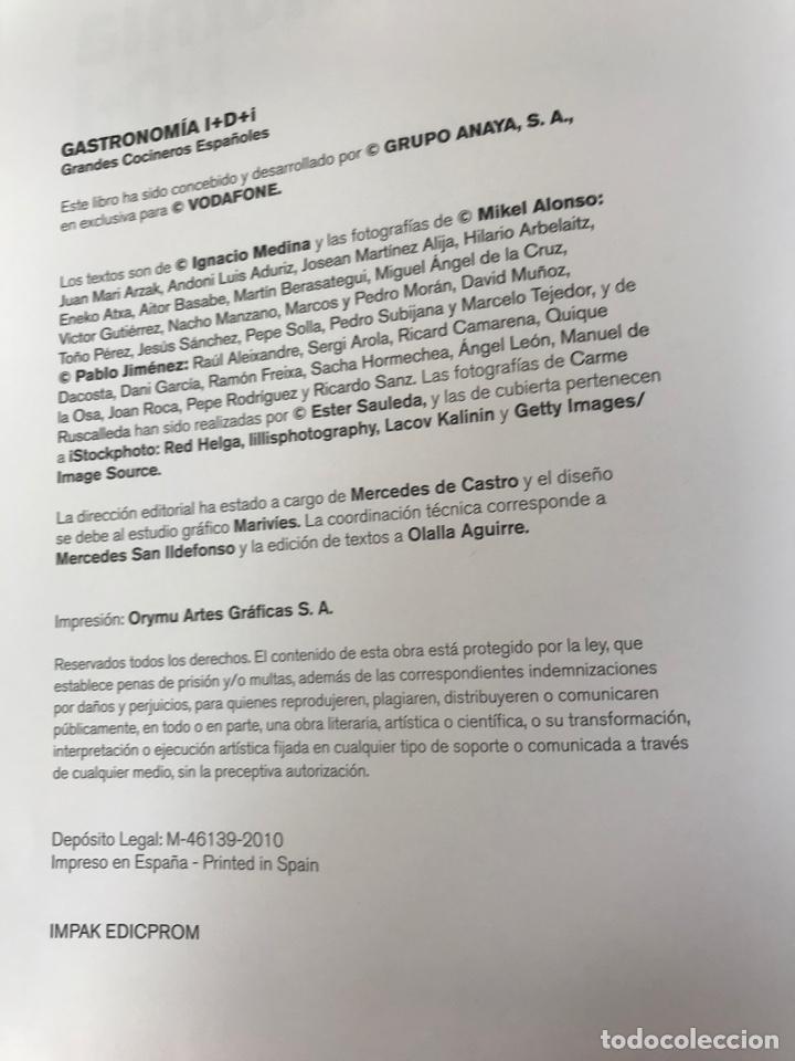 Libros: Gastronomia I+D+i. Grandes cocineros españoles - Foto 3 - 220479100