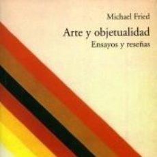 Libros: ARTE Y OBJETUALIDAD: ENSAYOS Y RESEÑAS. Lote 221634088