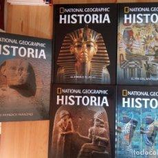 Libros: LOTE 5 PRIMEROS TOMOS COLECCIÓN HISTORIA NATIONAL GEOGRAPHIC. RBA.. Lote 235441010