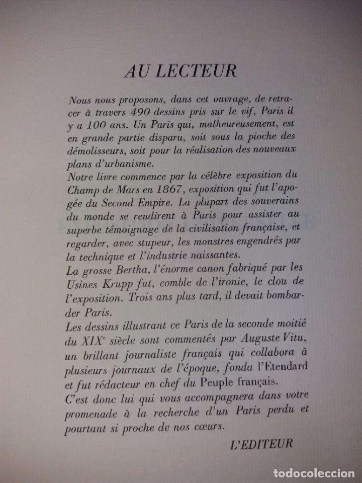 Libros: EXTRAORDINARIO Y BELLO LIBRO SOBRE EL PARIS DEL SIGLO XIX AÑOS 70´S - Foto 253 - 242225945