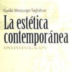 Libros: ESTETICA CONTEMPORANEA,LA. Lote 244884195