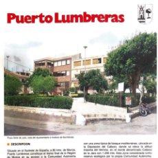 Libros: PUERTO LUMBRERAS MURCIA. Lote 245205050