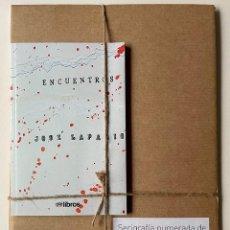 """Libros: LOTE DE SERIGRAFIA Y LIBRO """"ENCUENTROS"""" NUMERADO EJEM. (XLVII/L) DE JOSÉ LAPASIÓ. Lote 257923905"""