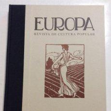 Libros: EUROPA REVISTA DE CULTURA POPULAR OLLERO Y RAMOS EDITORES. Lote 259728480