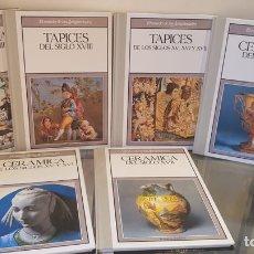 Libros: LOTE DE LIBROS TAPICES Y CERÁMICAS DISTINTOS SIGLOS. Lote 270567738