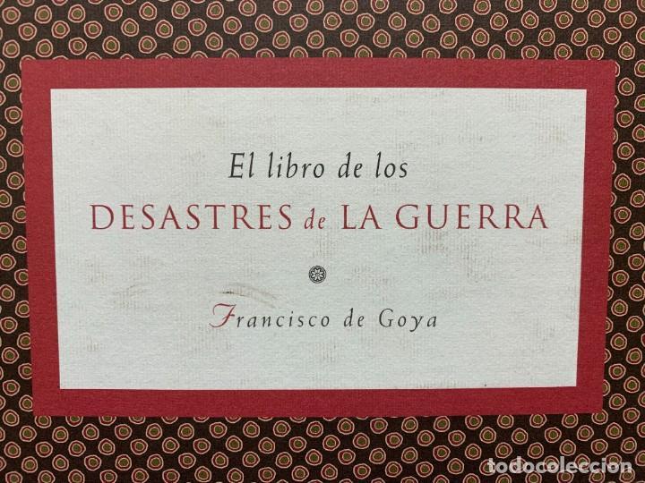 Libros: EL LIBRO DE LOS DESASTRES DE LA GUERRA FRANCISCO GOYA MUSEO NACIONAL DEL PRADO MADRID 2000 25X35X4CM - Foto 2 - 287997988
