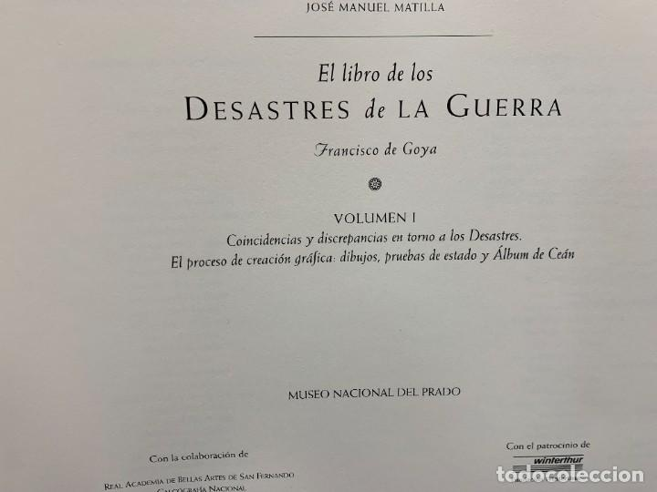 Libros: EL LIBRO DE LOS DESASTRES DE LA GUERRA FRANCISCO GOYA MUSEO NACIONAL DEL PRADO MADRID 2000 25X35X4CM - Foto 6 - 287997988