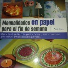 Libros: MANUALUDADES EN PAPEL. Lote 288372903