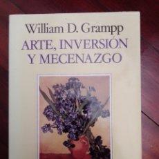 Libros: D. GRAMP (1991) ARTE, INVERSIÓN Y MECENAZGO. ARIEL. Lote 292339858