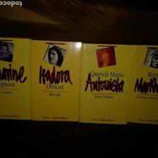 Libros: CUATRO LIBROS SOBRE MUJERES DE EDITORIAL SALVAT. Lote 110103370